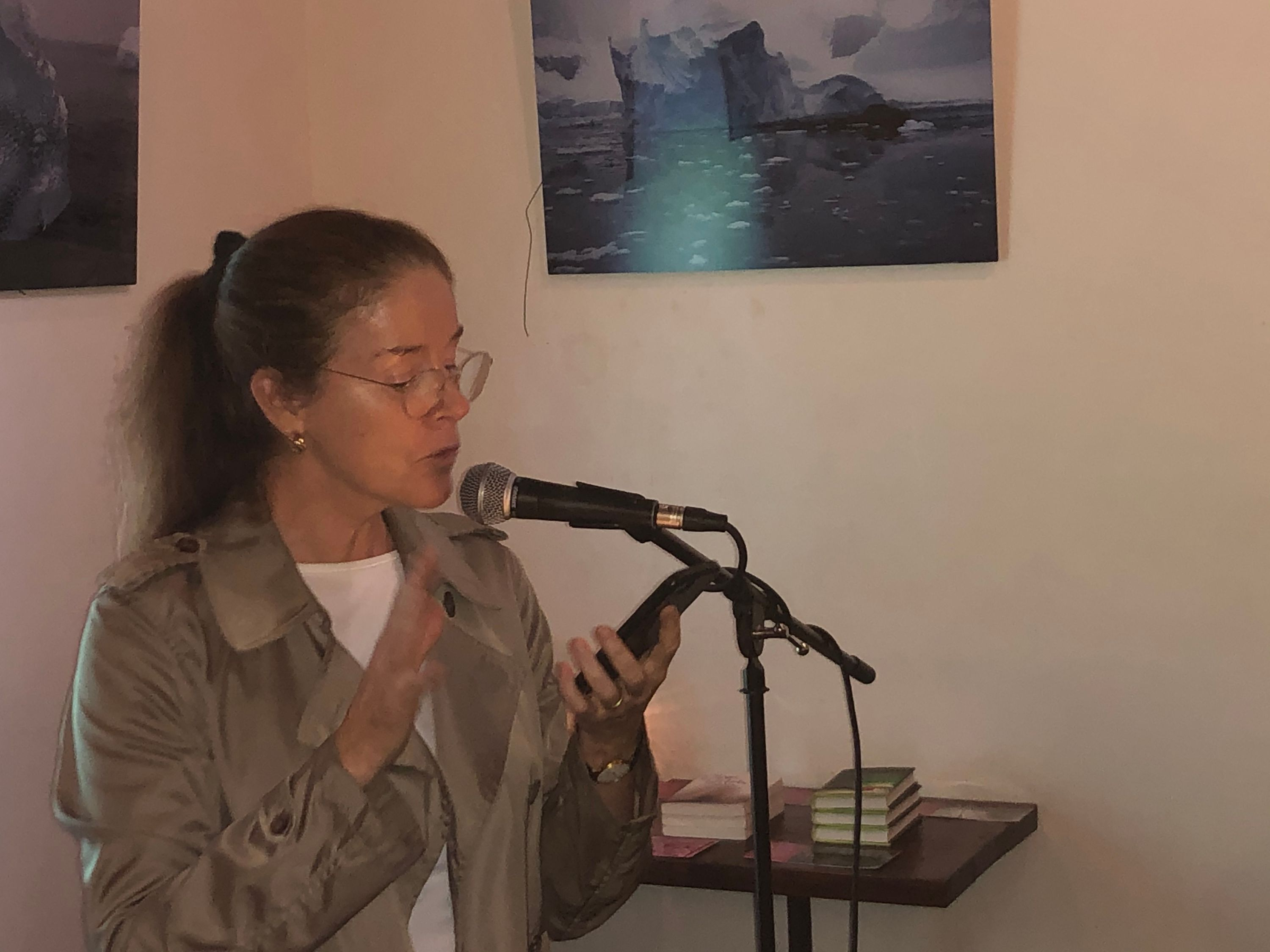 liz gray at the first tuesdays open mic - oct 1 2019