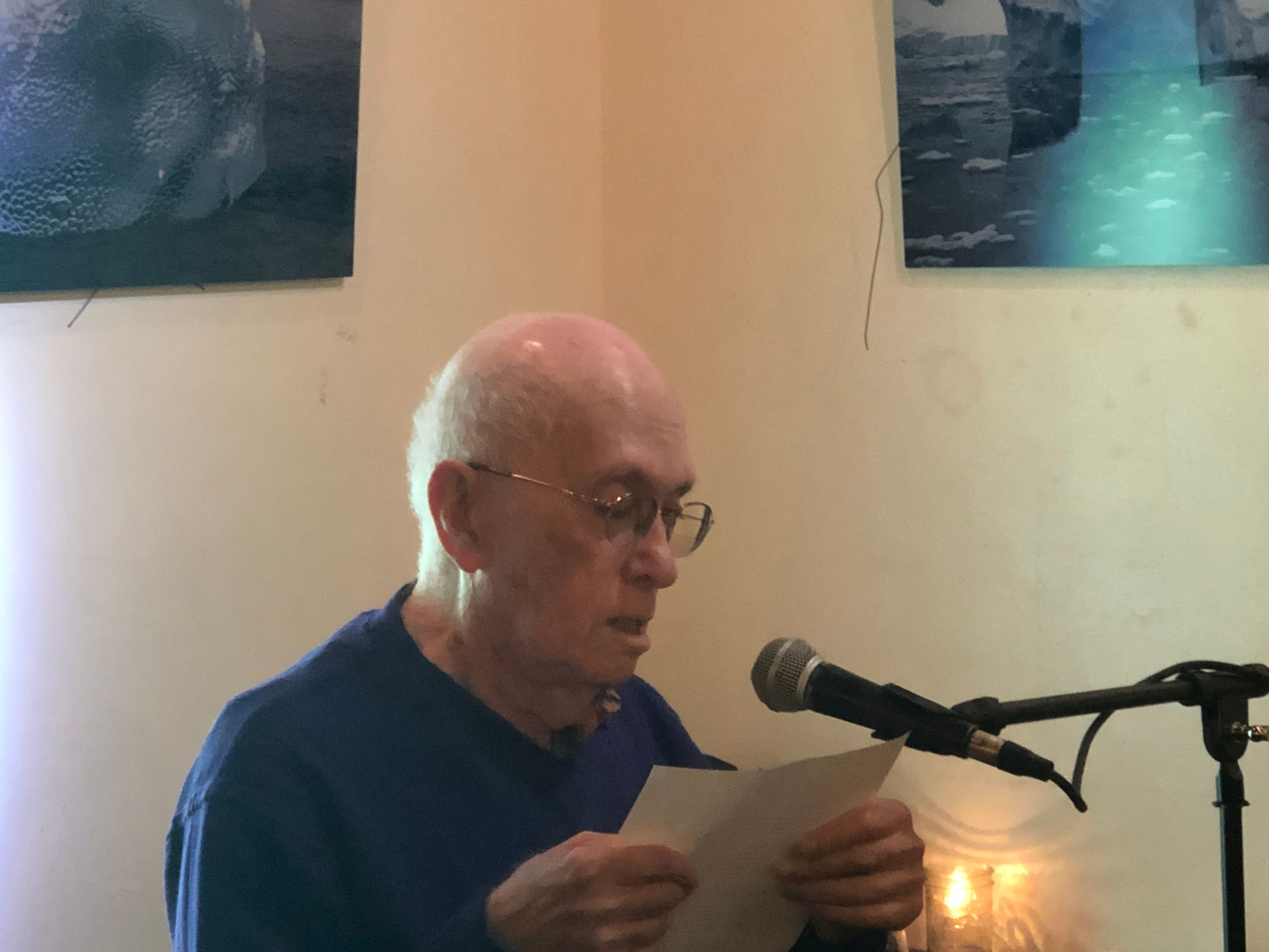 norman stock at the first tuesdays open mic - oct 1 2019