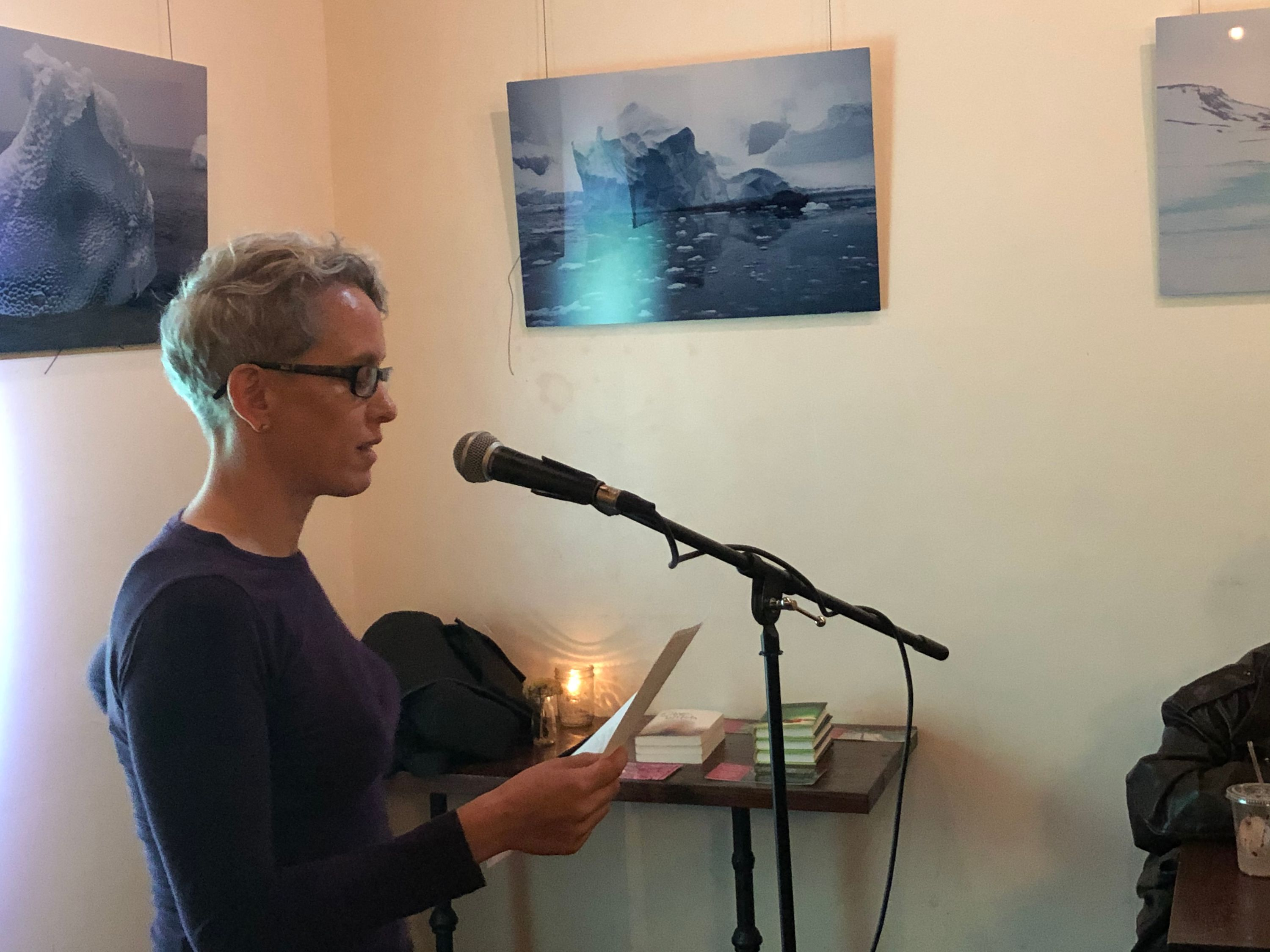 basia winograd at the first tuesdays open mic - oct 1 2019