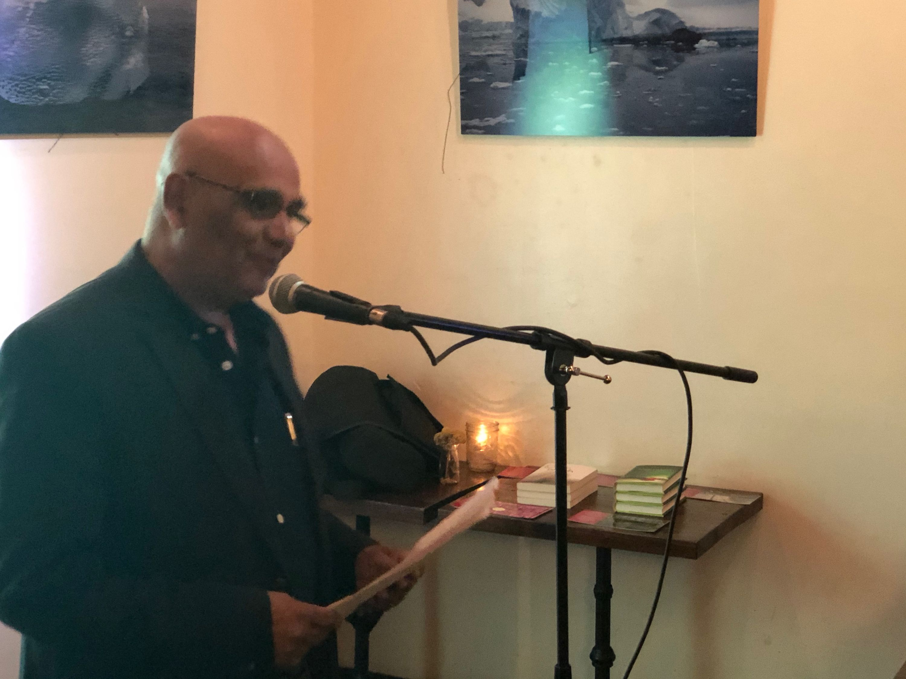 shams a momin at the first tuesdays open mic - oct 1 2019