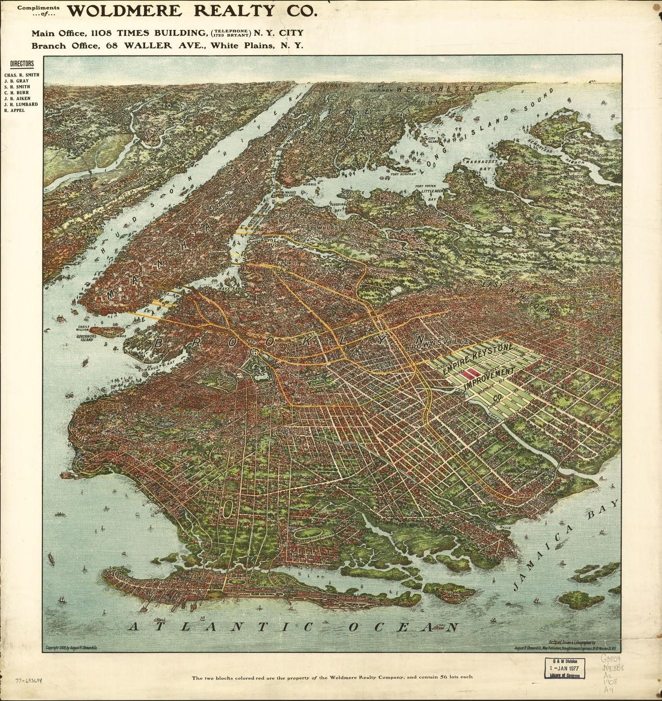 [map][new york][brooklyn] brooklyn old map