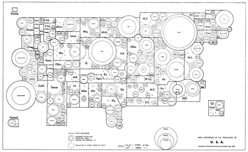 [map][graphic][cartogram] us map