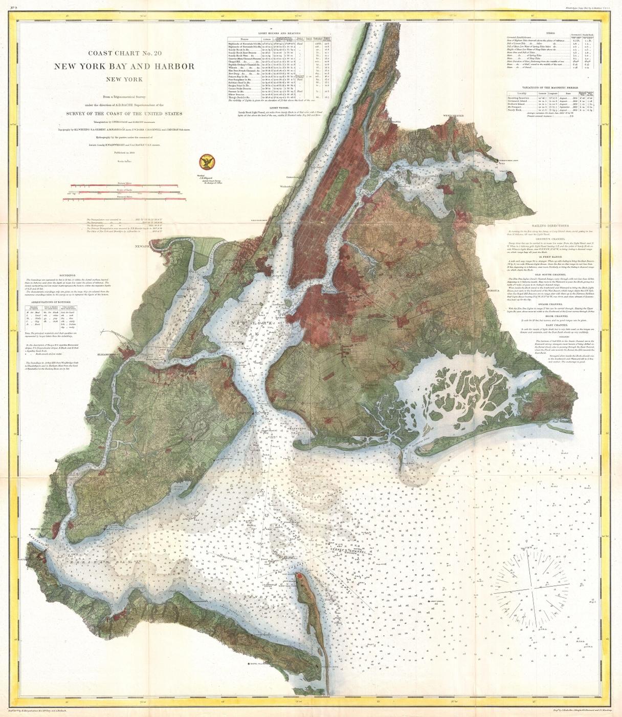 [map] [new york] 1866_U.S._Coast_Survey_Nautical_Chart_of_Map_of_New_York_City_and_Harbor_-_Geographicus_-_NewYorkCity3-uscs-1866