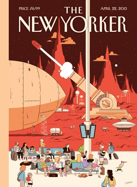 """[editorial] [magazine] [cover] Cover Story: Luke Pearson's """"Now Boarding"""" : The New Yorker"""