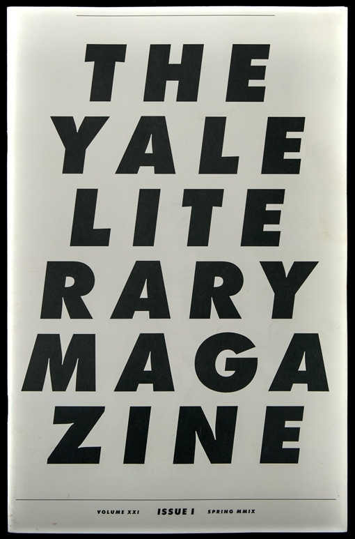 yale literary magazine [type] [cover] [editorial]