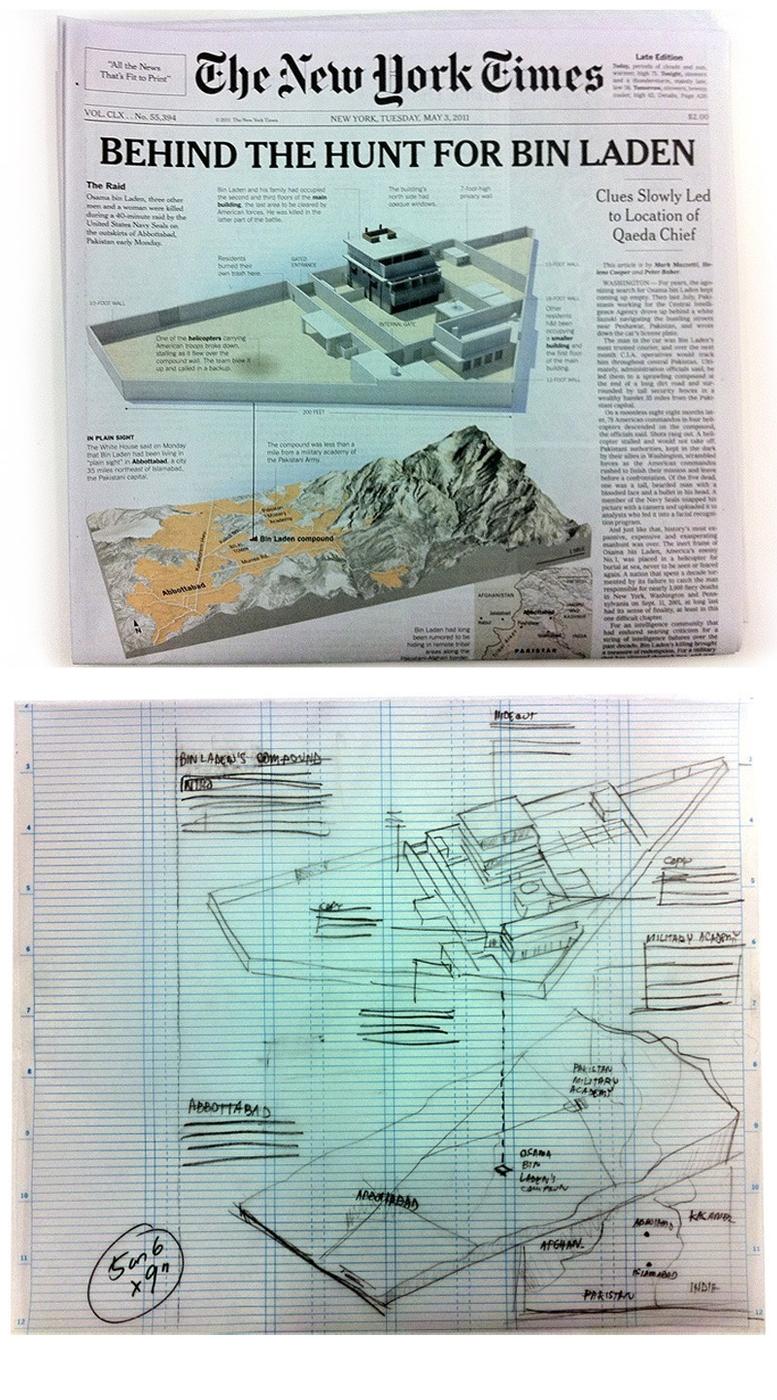 [graphic] [sketch] Bin Laden's Death - Pecanha.org