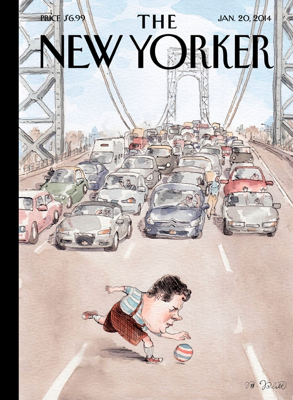 "[editorial] [illustration] [cover] Cover Story: Barry Blitt's ""Playing in Traffic"" : The New Yorker"
