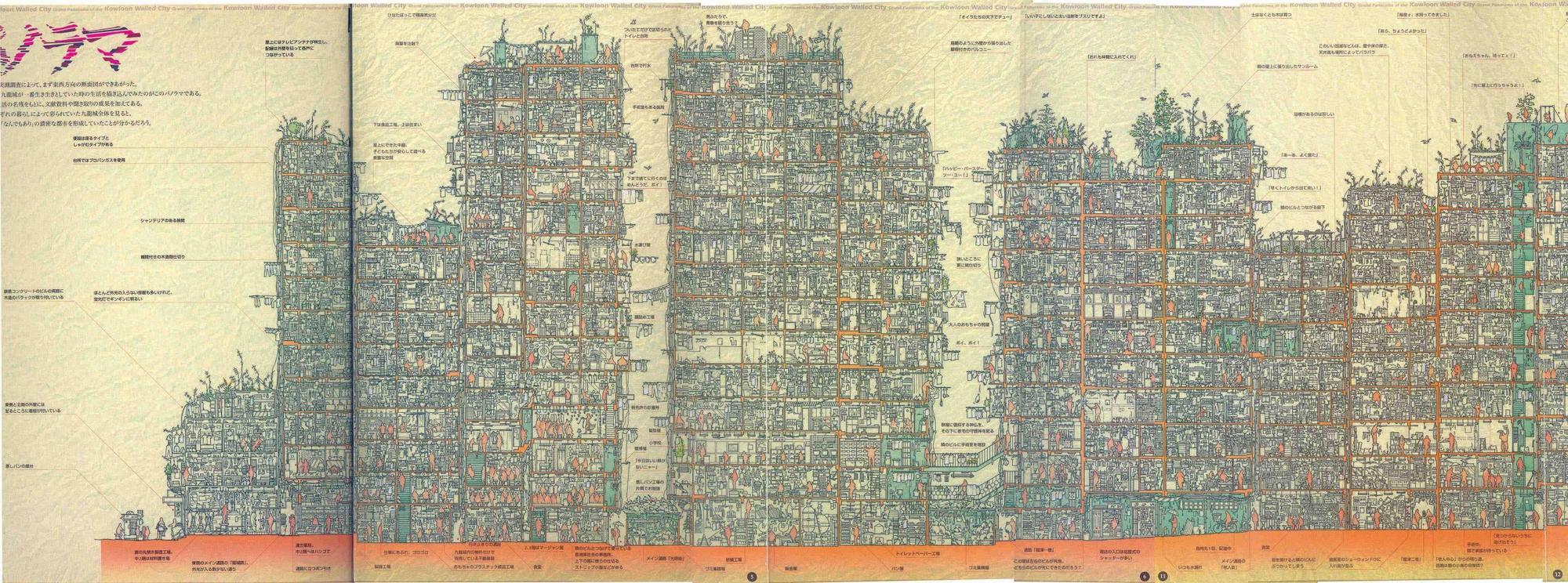 [cutaway] [diagram] kowloon-walled-city.jpg (4716×1754)