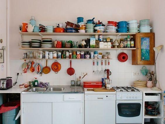 [kitchen] open shelves