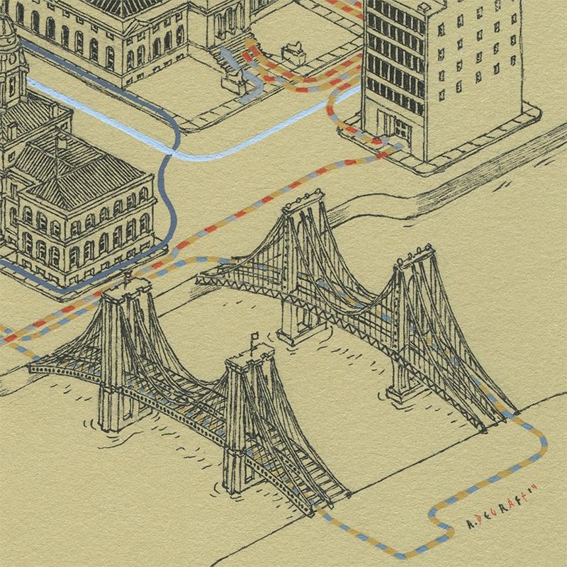 [new york] [isometric] [illustration] pathsofhteghostbustersdetail2