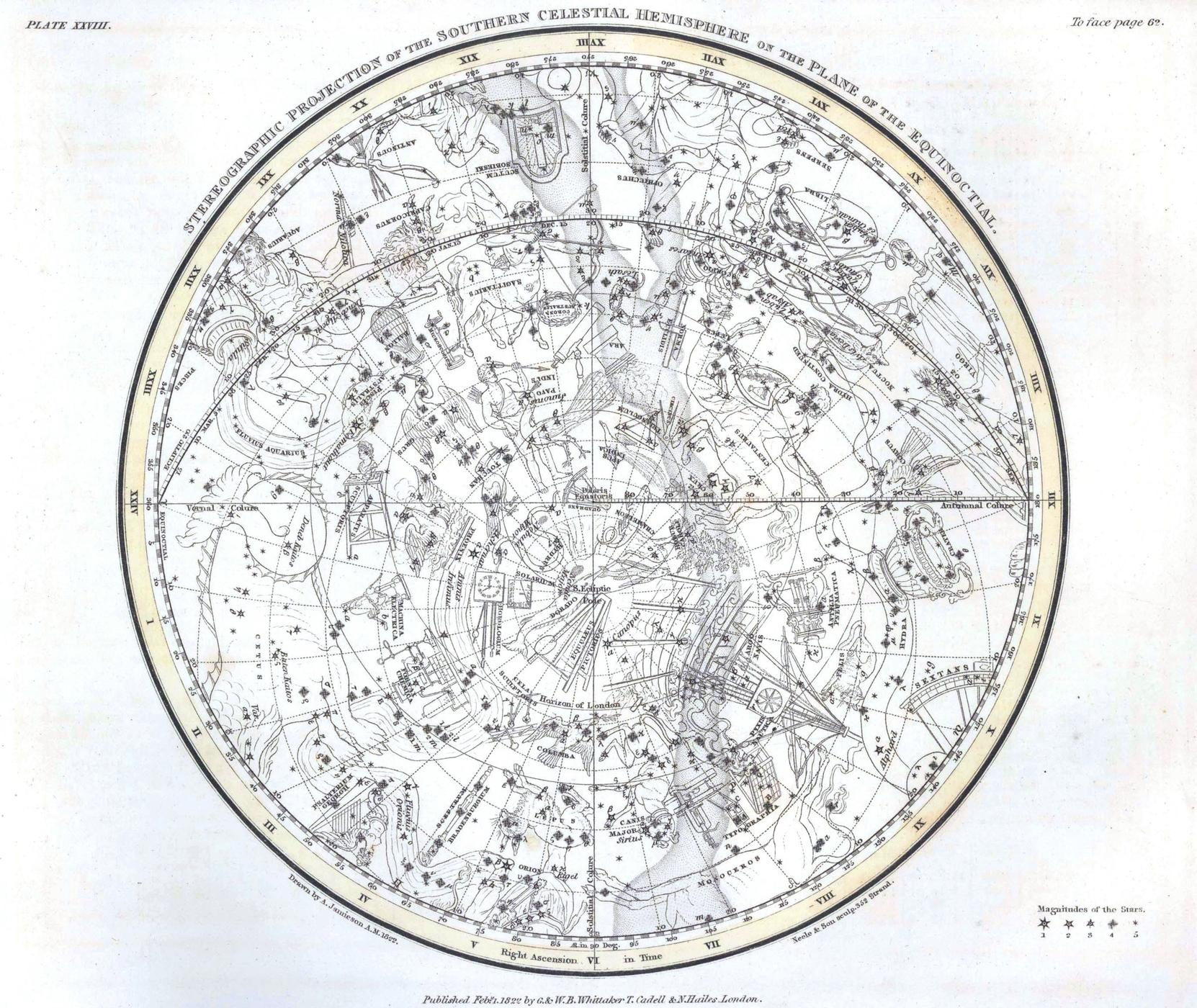 [map] Astronomy-Celestial-Atlas-Jamieson-1822-Plate-28