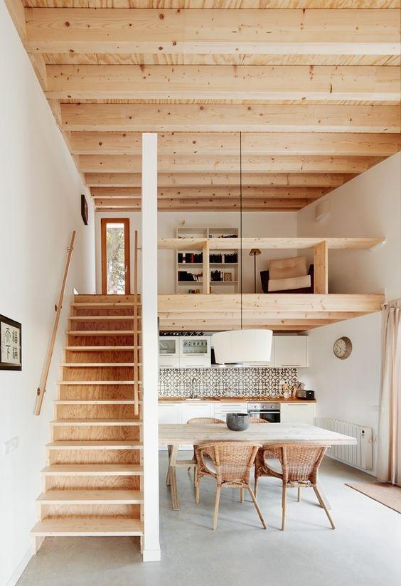 [kitchen][loft][wood]