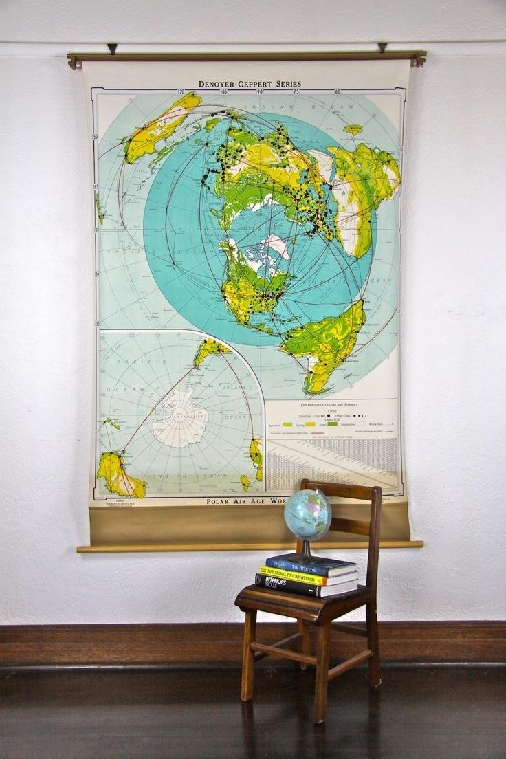 57a77052641a2b47078d8f445cb53424  wall maps vintage school