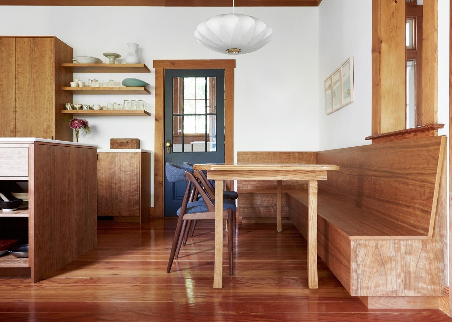 wood kitchen oakand aya brackett remodel built in bench 1 1466x1047