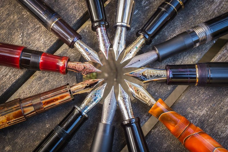 A 'rotation' of fountain pens