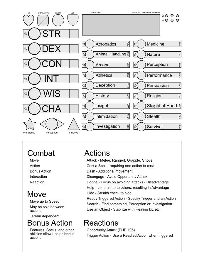 DMented Character Sheet