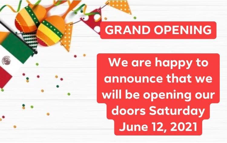 Taqueria Durrango Reopening