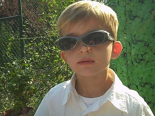 De truc met de zonnebril