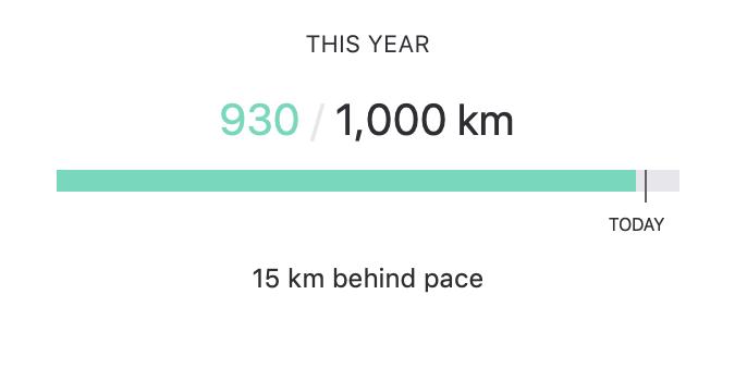 Strava 1000 km