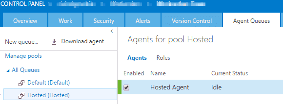 Agent Pool Hosted
