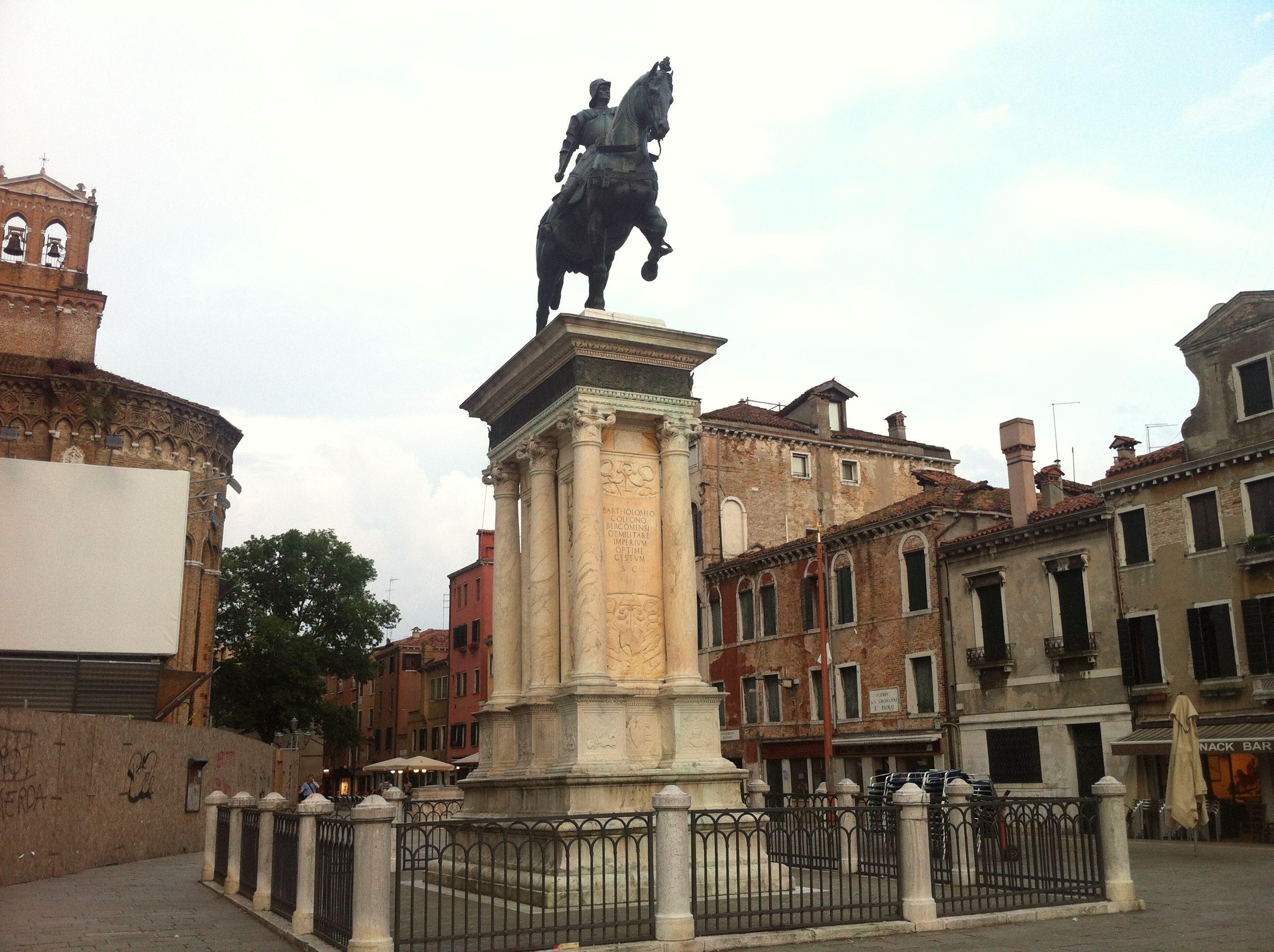 Verrocchio's equestrian statue of Bartolomeo Colleoni