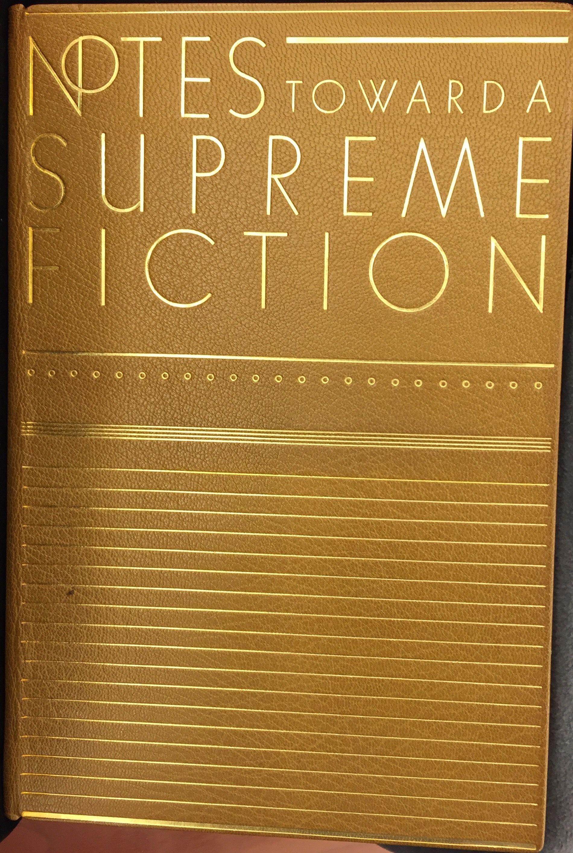Notes toward a Supreme Fiction, 1942, binding by Gerhard Gerlach.