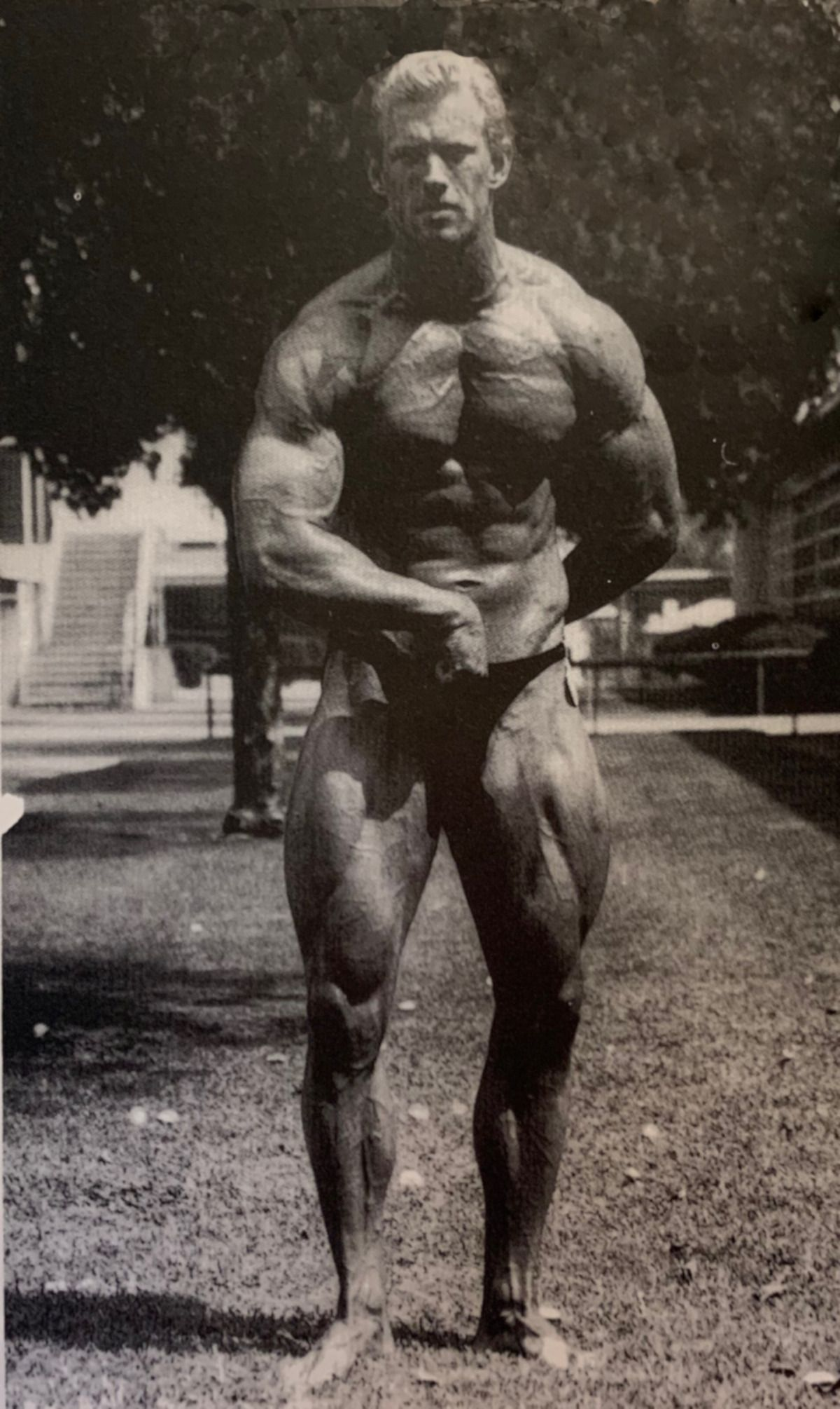 """Fussell as a Bodybuilder in 1988, from """"Muscle"""""""