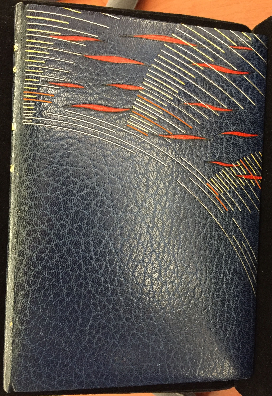 The Auroras of Autumn, 1950, binding by René Aussourd.