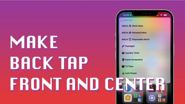 Make Back Tap Front and Center Banner Image