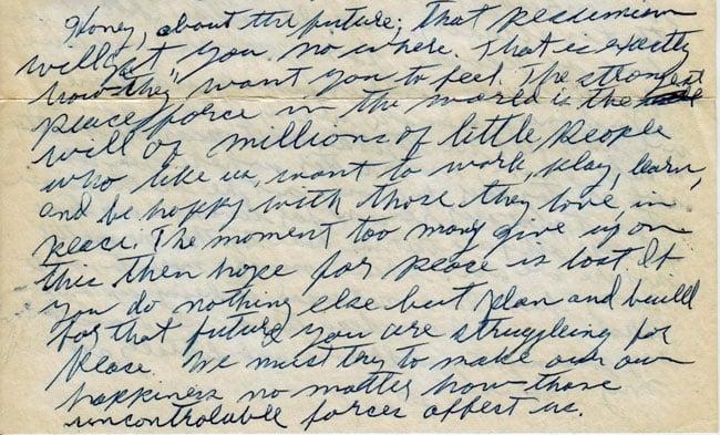 Letter from Paul Greenberg to Esther Novogrodsky, December 19, 1950 (exerpt)