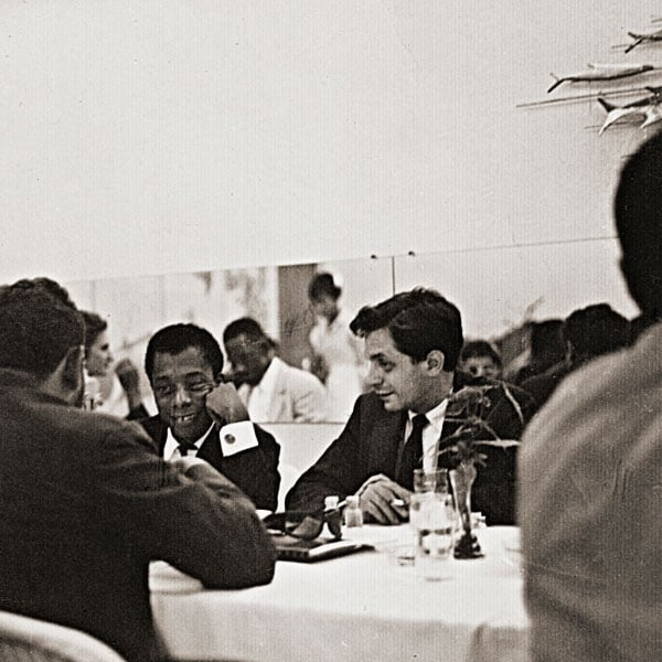 James Baldwin and Paul Greenberg at the AG Gaston Motel, Birmingham, AL, August 4, 1963 (Photo by Bob Adamenko)