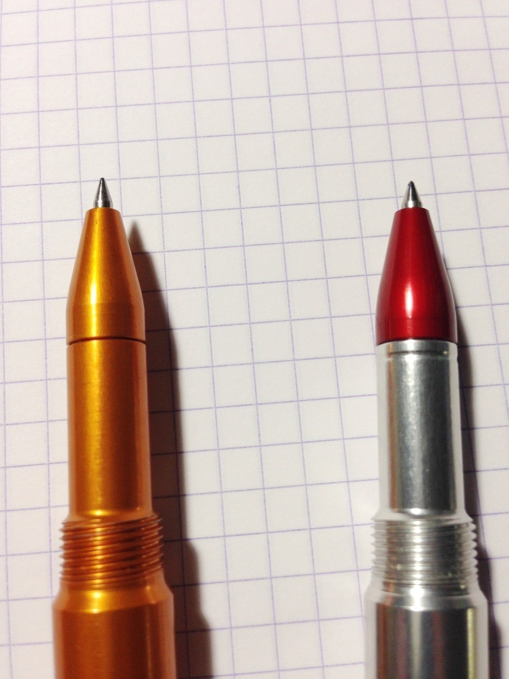 Regular Render K on the left, Render K G2 on the right. The G2 model has a small machined line below the tip