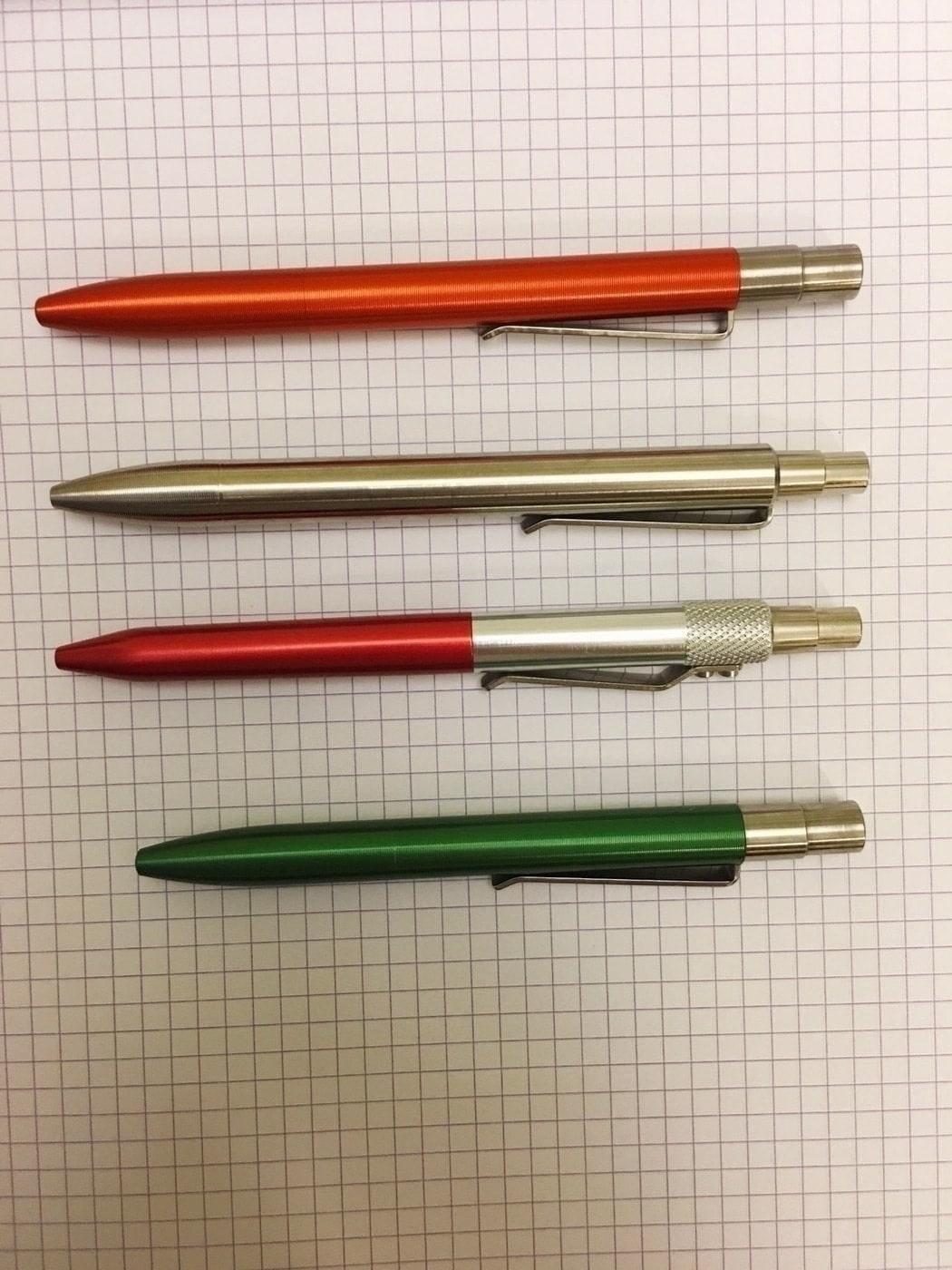 Top to Bottom: v2 Mover, v1 Mover, Karas Kustoms Retrakt, v2 Shaker