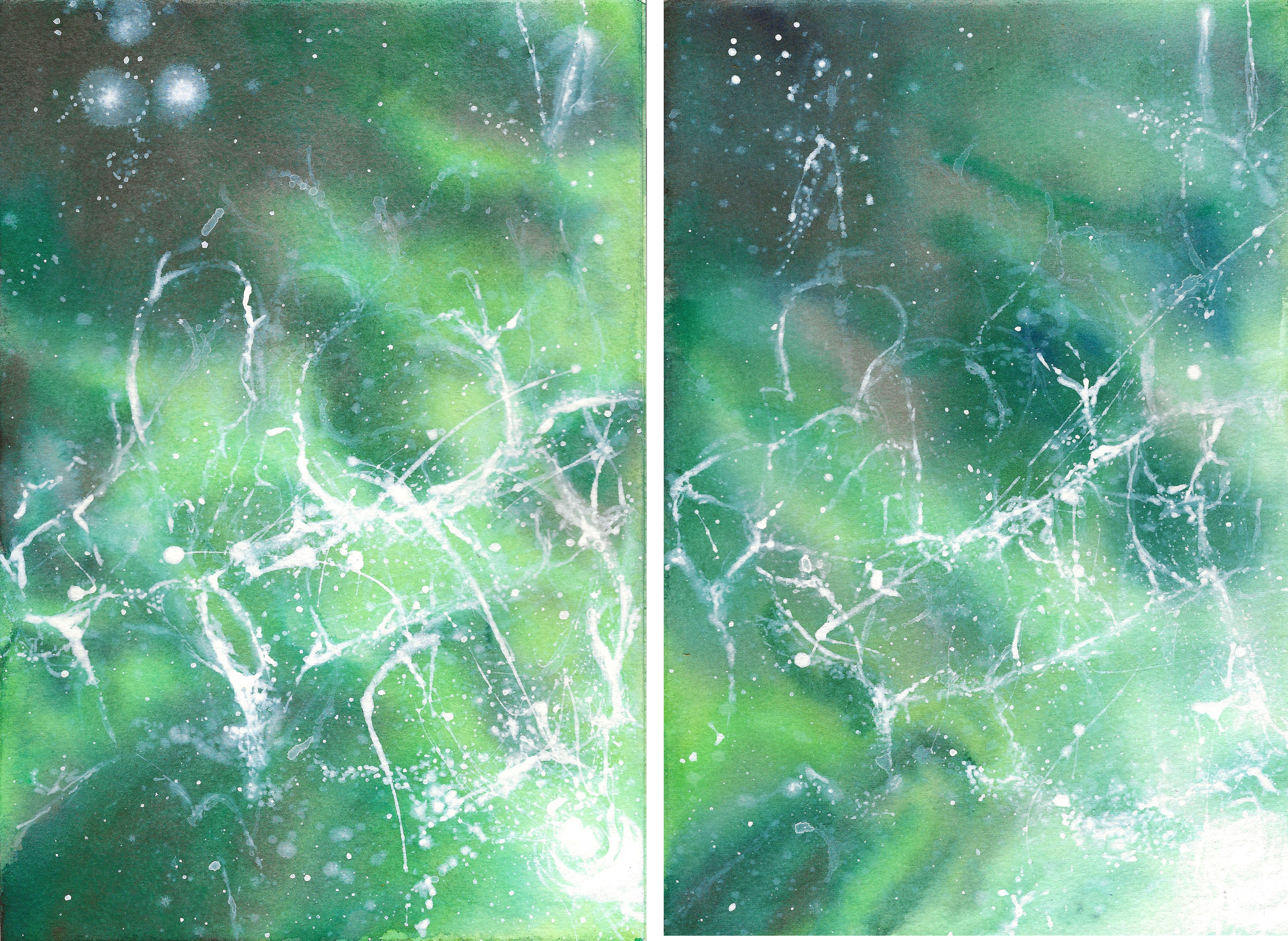 diptych bc ferries 5 + 6 - watercolour and gouache - 210 x 297mm ish - 640gsm 300lbs
