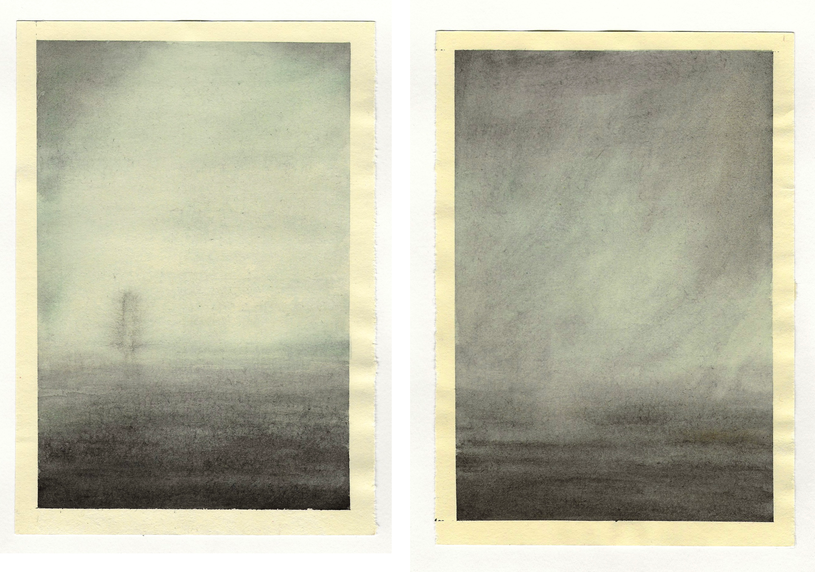 diptych watercolour studies - sequence 4 - #1 #2- watercolour - 148 x 210mm - 160gsm