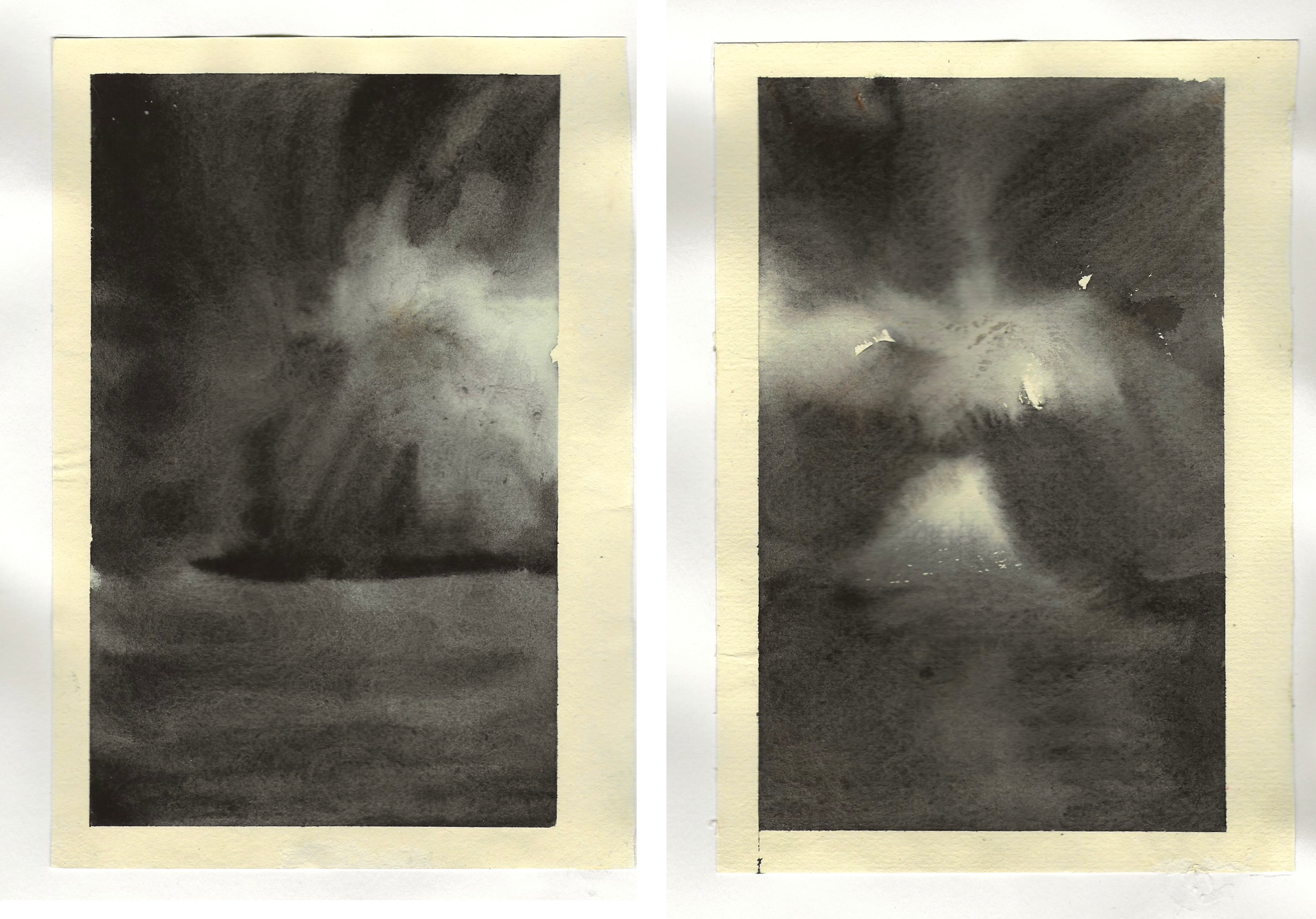 diptych watercolour studies - sequence 1 - #7 #8- watercolour - 148 x 210mm - 160gsm