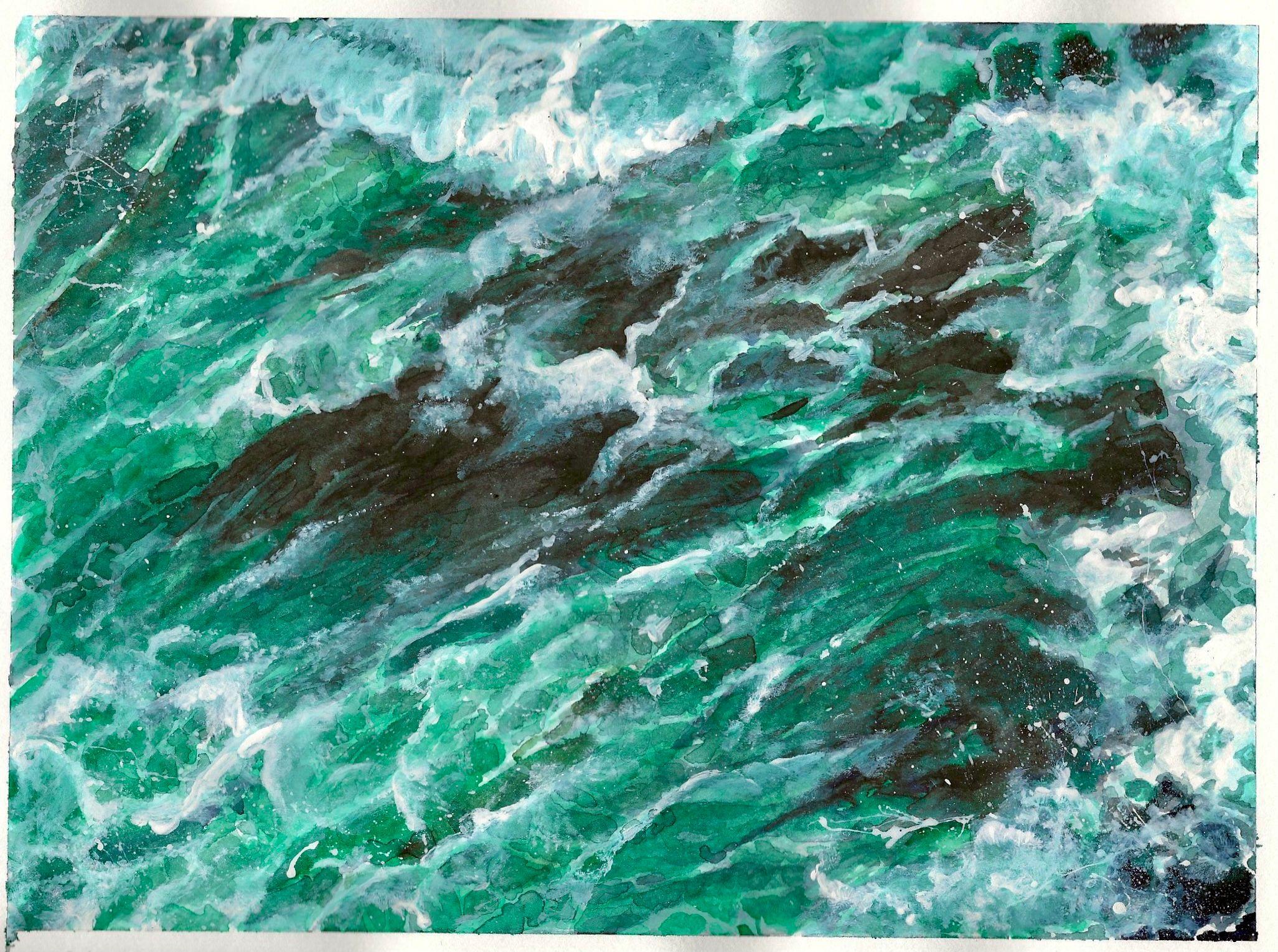viridian fizz 1 - watercolour gouache - 210 x 297mm - 280gsm 160lbs