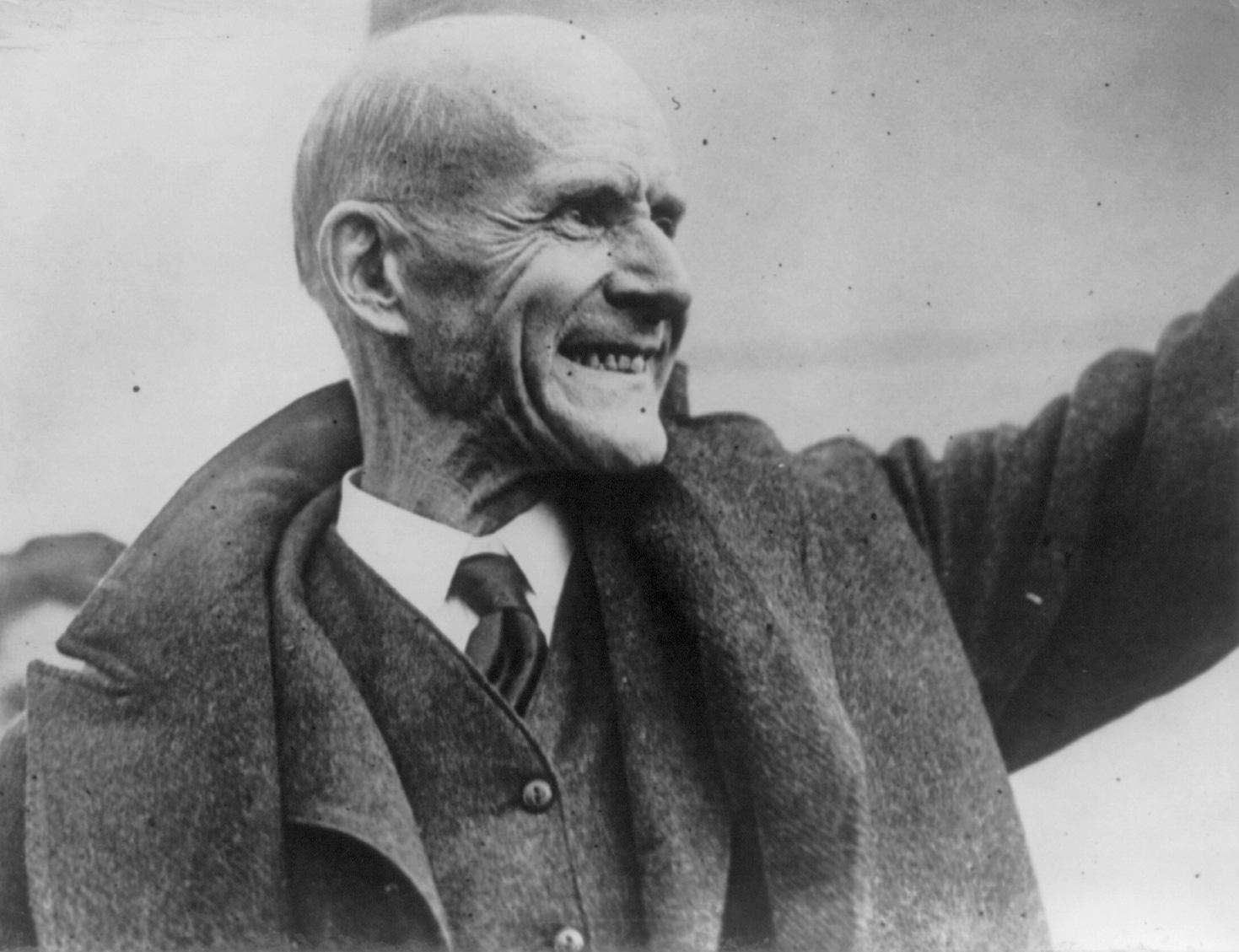 Eugene V. Debs, 1921. Image in the public domain, courtesy of Wikimedia Commons.