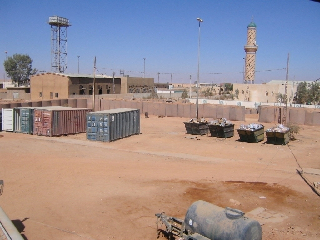 The minaret overlooking the FOB.