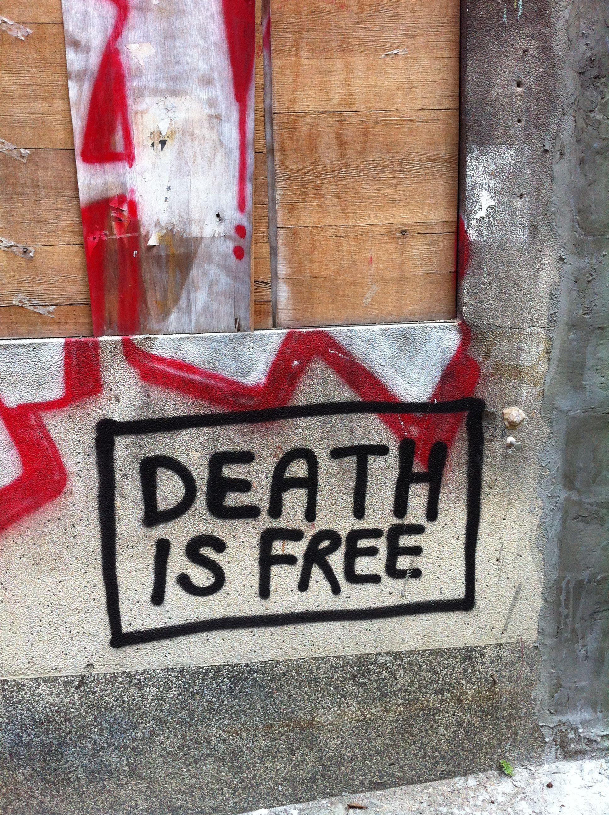 death is free, hong kong, october 2011