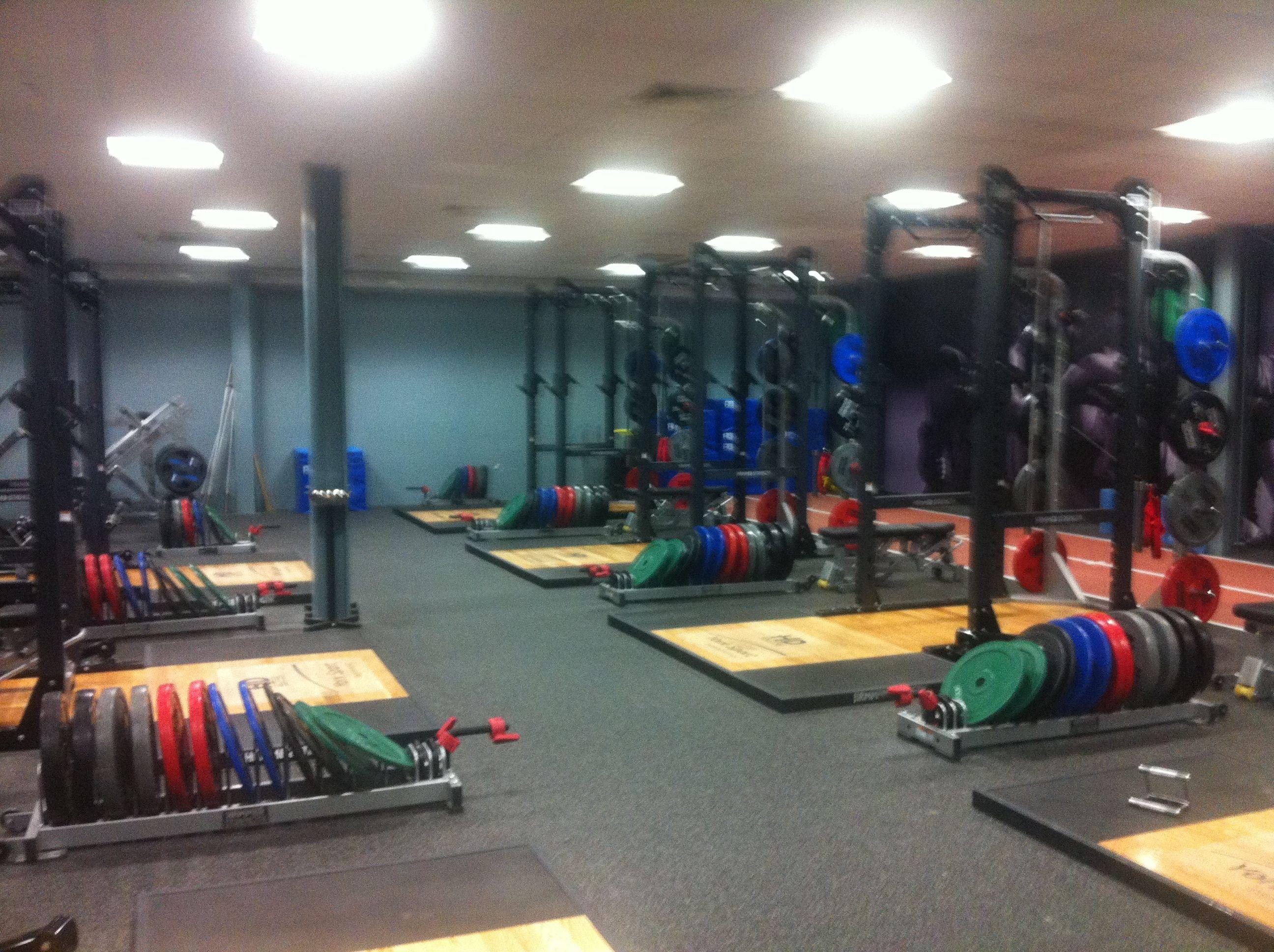 weight room, york, december 2013
