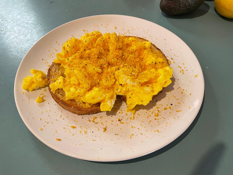 Eggs with bottarga