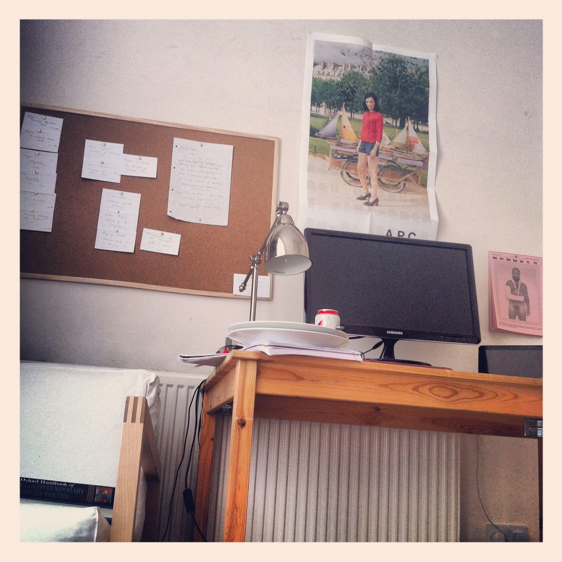 red stripe on desk, february 2012