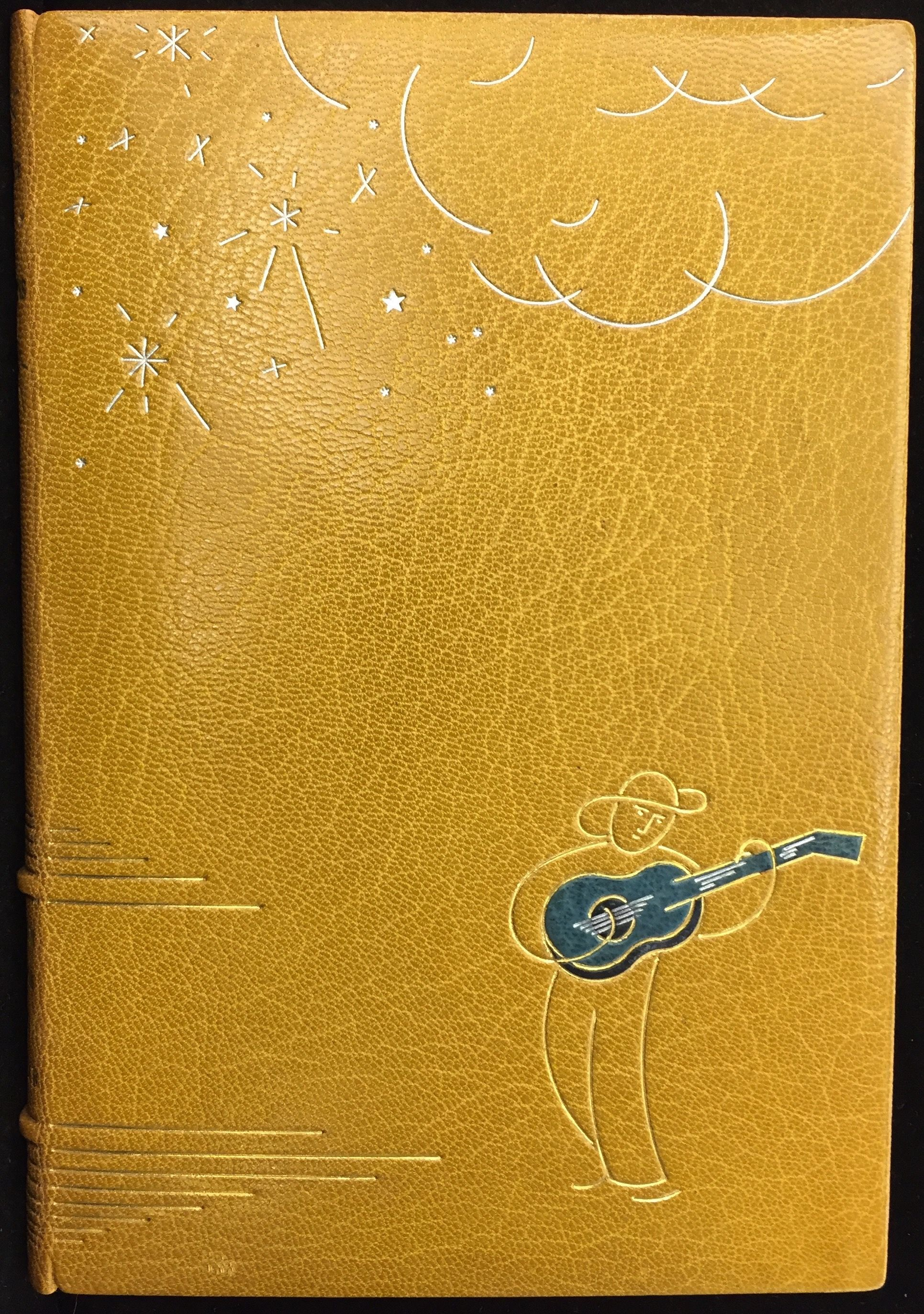 The Man with the Blue Guitar, 1937, binding by René Aussourd.