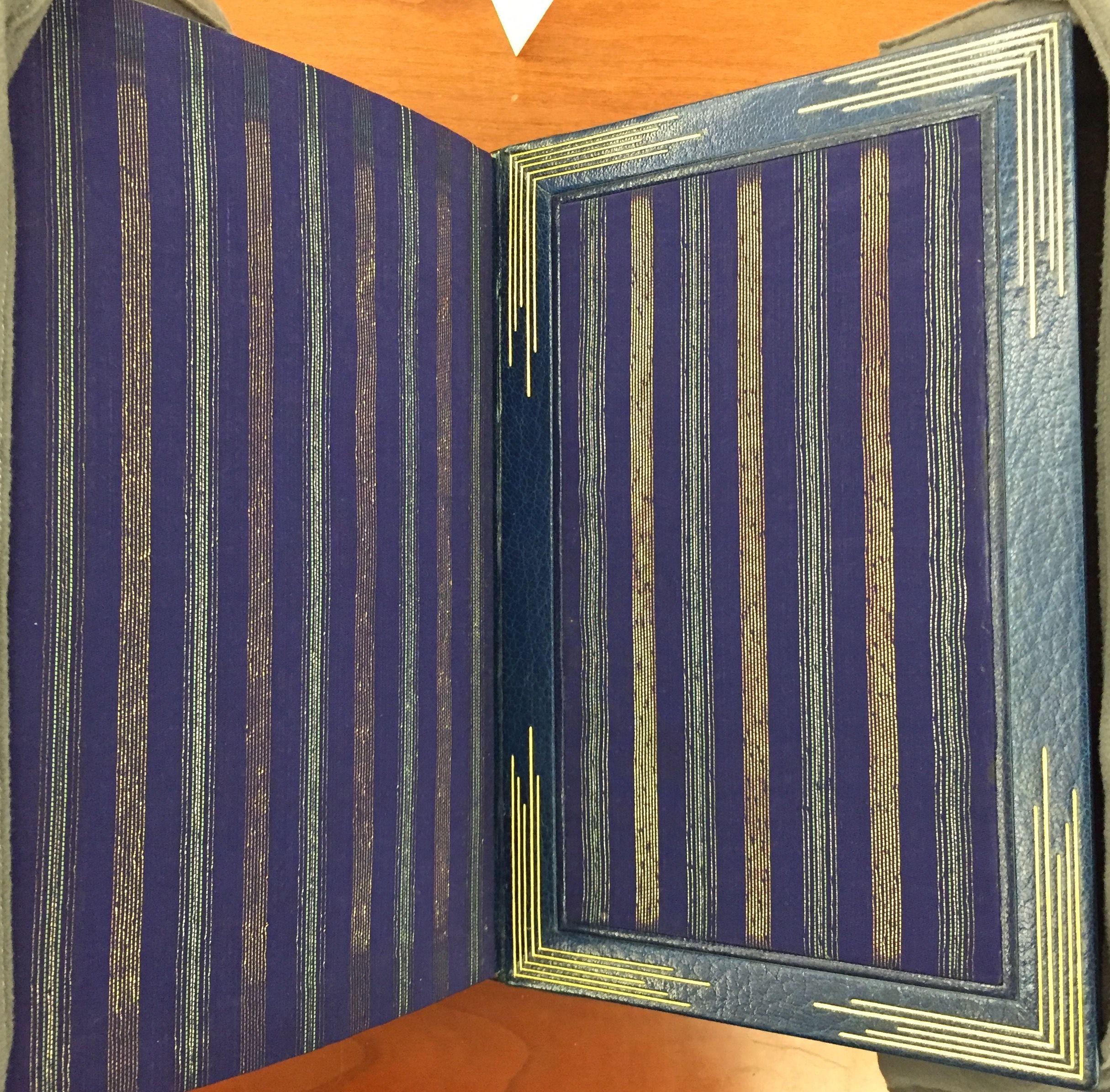 Owl's Clover, 1936, binding by René Aussourd, interior.