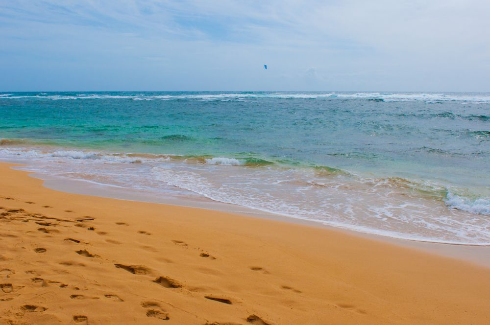 Footsteps at Maha'ulepu Beach