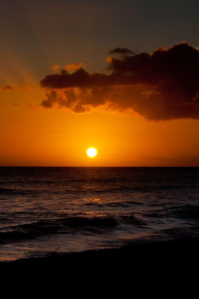 Sunset at Kekaha Beach