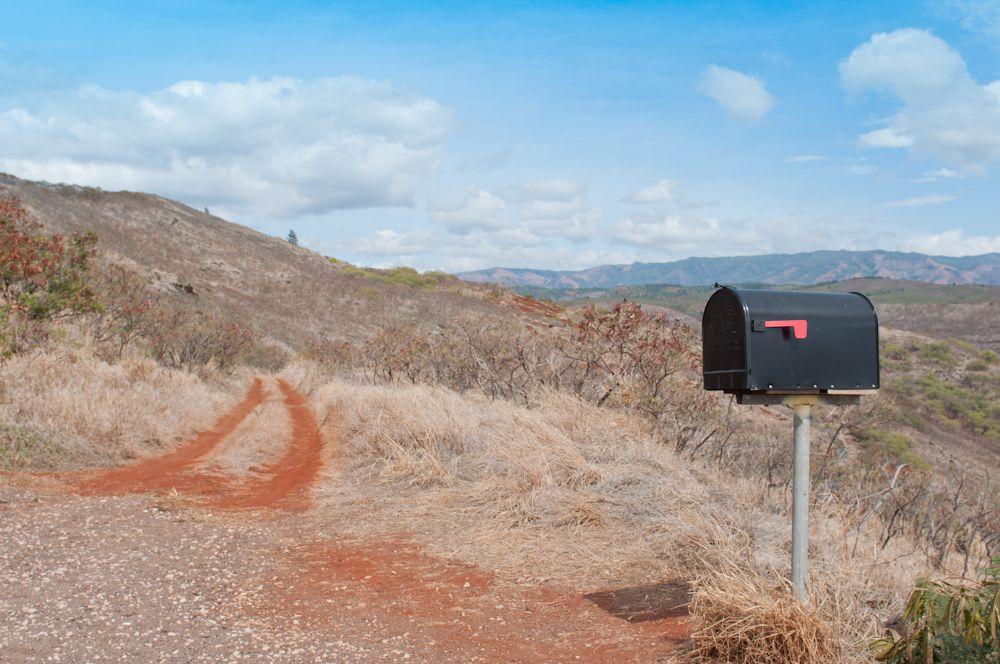 Mailbox on Waimea Canyon Drive