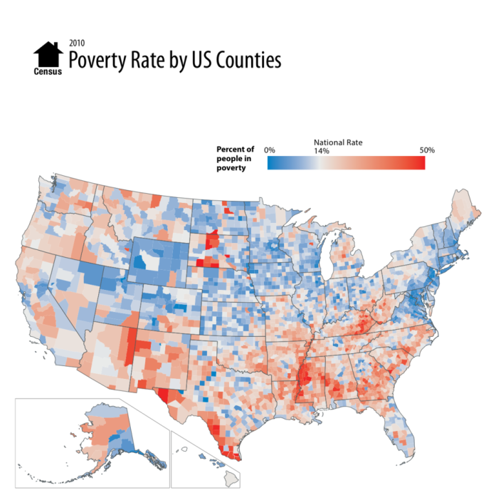 an image showing which US countries have more poor population density