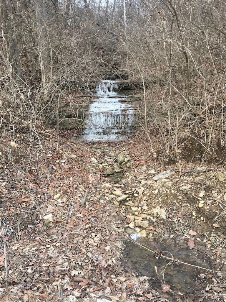 frozen mini waterfall